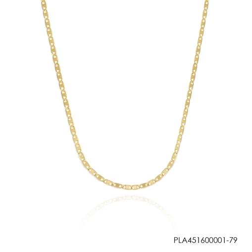 Corrente  Ouro 18k Piastrine 45cm