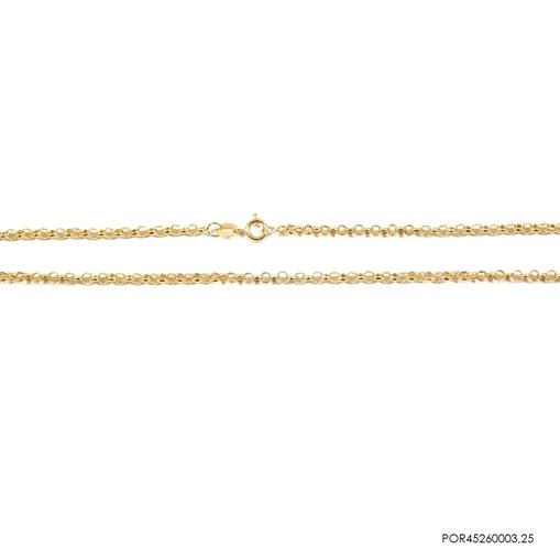 Corrente  Portuguesa Ouro 18k 45cm