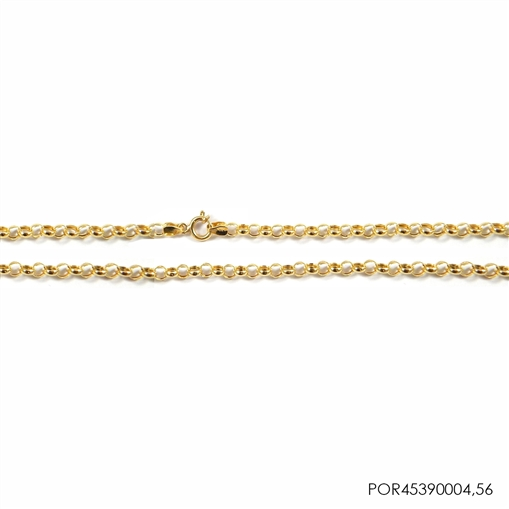 Corrente Portuguesa Ouro 18K 45cmX3,2mmX0,4mm