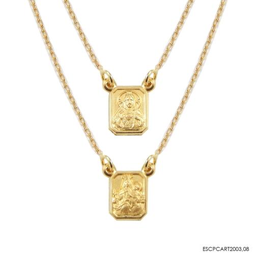 Escapulario Dourado Ouro 18k