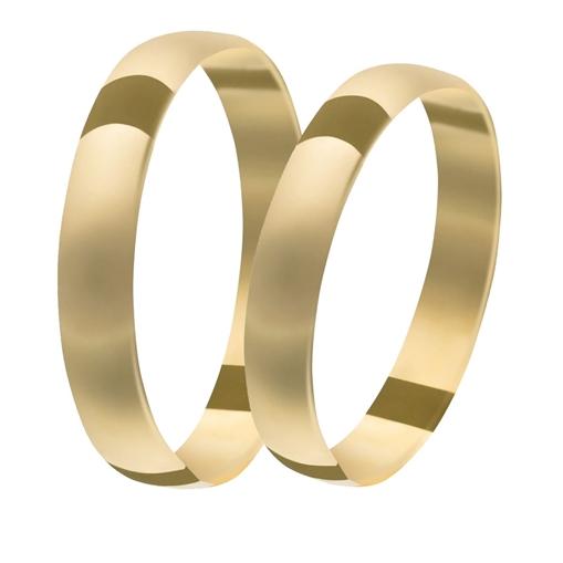 Par Aliança Ouro 18k Tradicional 4,00mm x 0,90mm