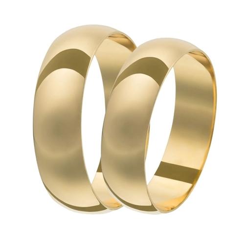 Par Aliança Ouro 18k Tradicional 5,00mm x 1,0mm 115210008-69