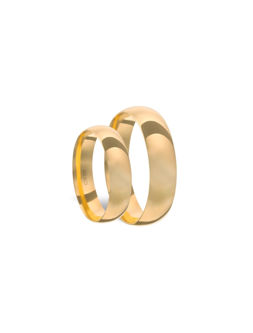 Par Aliança Ouro 18k Tradicional 6,0mm x 0,85mm