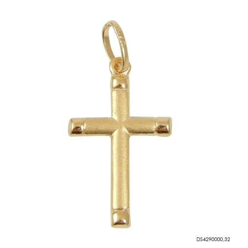 Pingente Cruz Fosca Ouro 18k