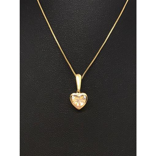 Pingente Coração c/ Zircônia Ouro 18k