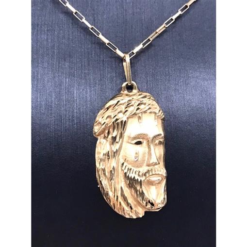 Pingente de Ouro 18k Face de Cristo