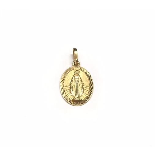 Pingente de Ouro 18k Medalha Santo