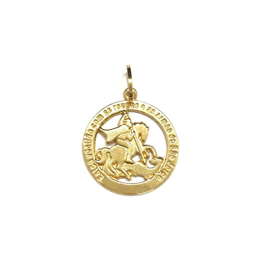 Pingente De Ouro 18k São Jorge