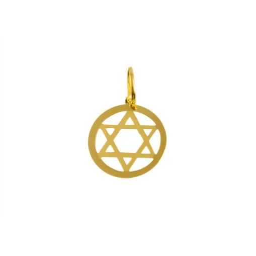 Pingente Estrela de Davi Ouro 18k