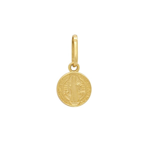 Pingente Medalha de São Bento Ouro 18k