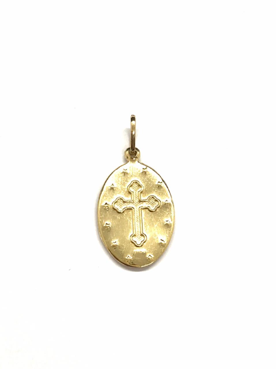 Pingente Medalha São Miguel Arcanjo Ouro 18k