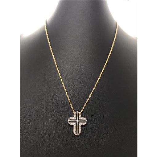 Pingente Ouro 18k Alfinete Com Medalha Batismo