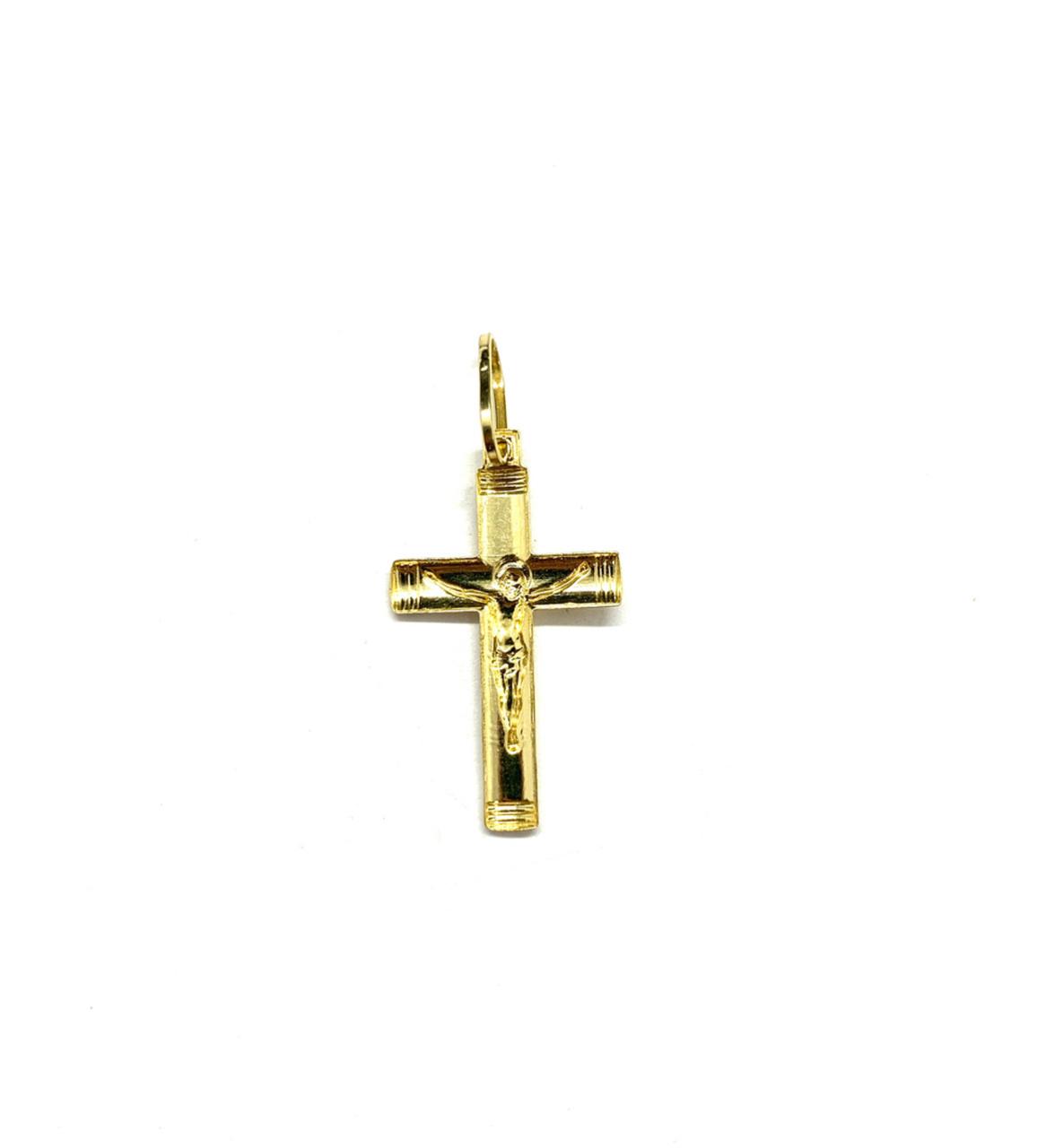 Pingente Ouro 18k Crucifixo Fosco