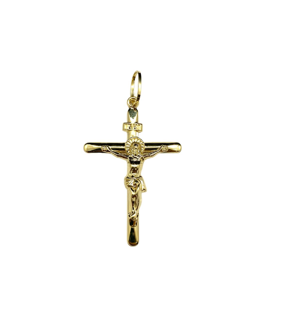 Pingente Ouro 18k Crucifixo Inri