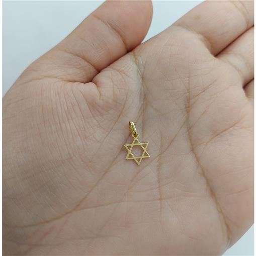Pingente Ouro 18k Estrela de Davi