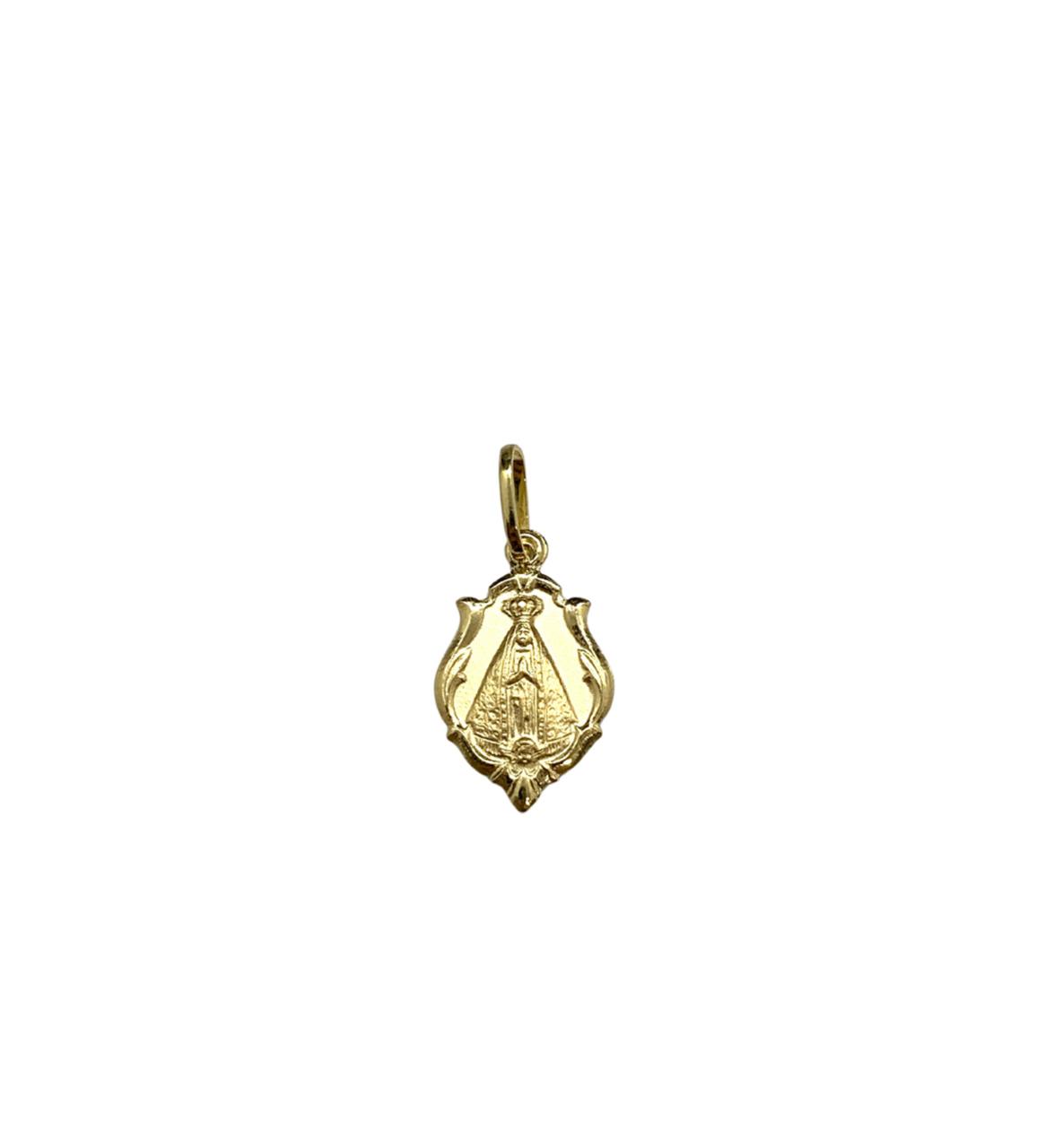 Pingente Ouro 18k Medalha Nossa Senhora Aparecida