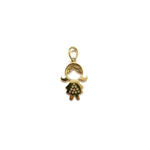 Pingente Ouro 18k Menina PN051000-75