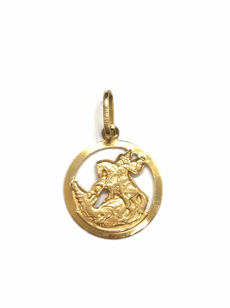 Pingente Ouro 18k São Jorge