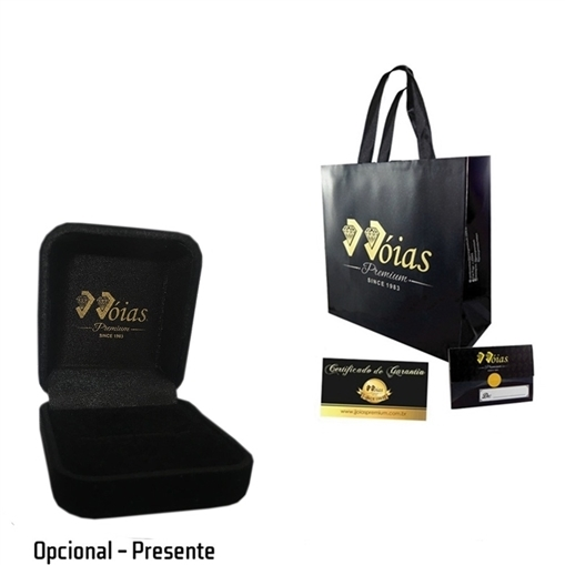 Porta Aliança C/ Zirconia Ouro 18k