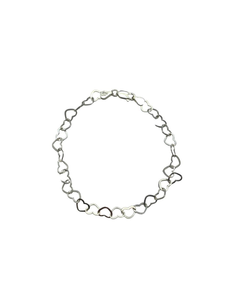 Pulseira Prata Coração PPLF18425