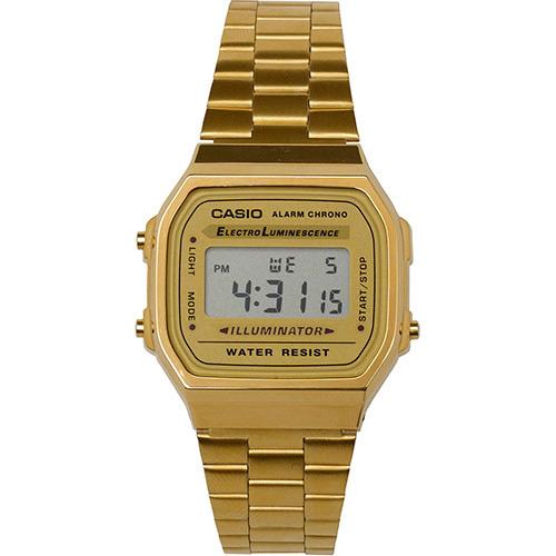 Relógio Casio Vintage Digital Dourado A168WG-9WDF L