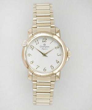 Relógio Feminino Champion Dourado CN26626H
