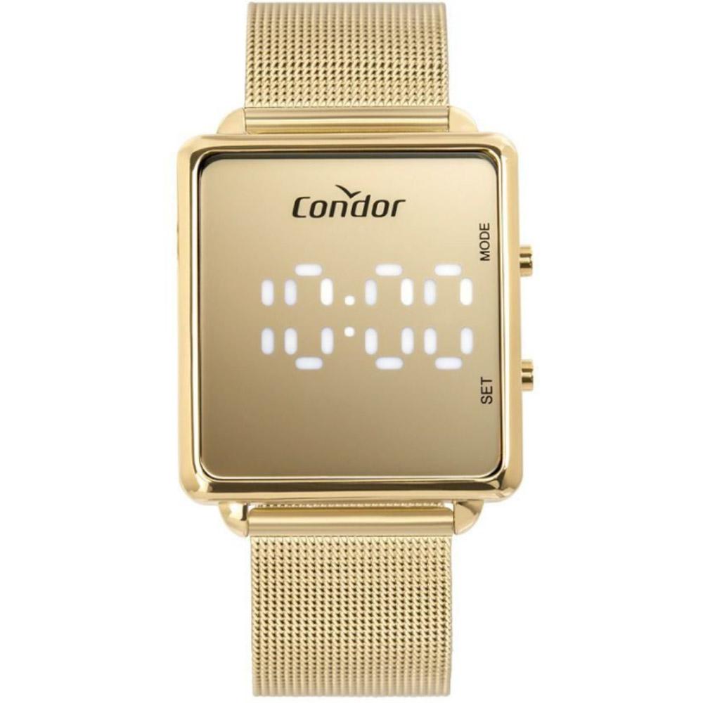 Relógio Feminino Condor Dourado Digital COMD1202AF/4D