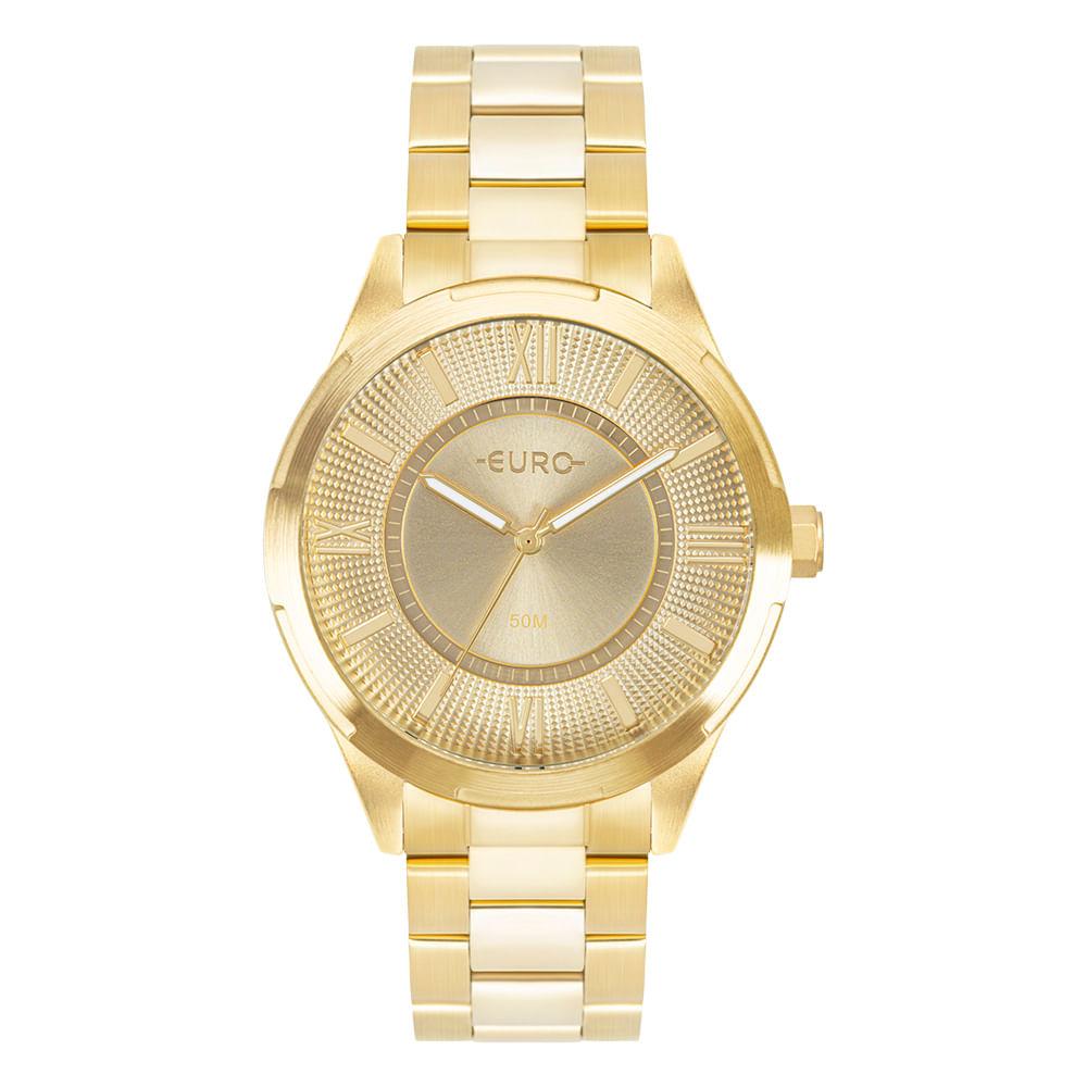 Relógio Feminino Euro Dourado EU2036YQT/4D