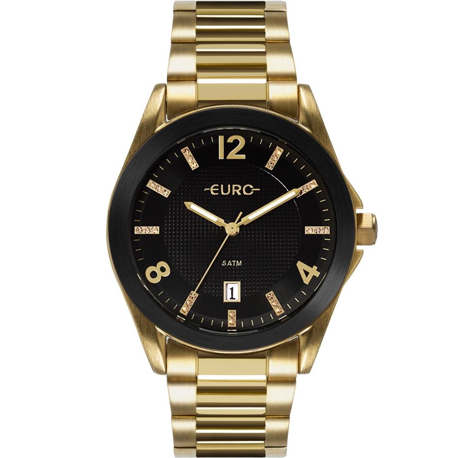 Relógio Feminino Euro Dourado EU2315HM/4P L
