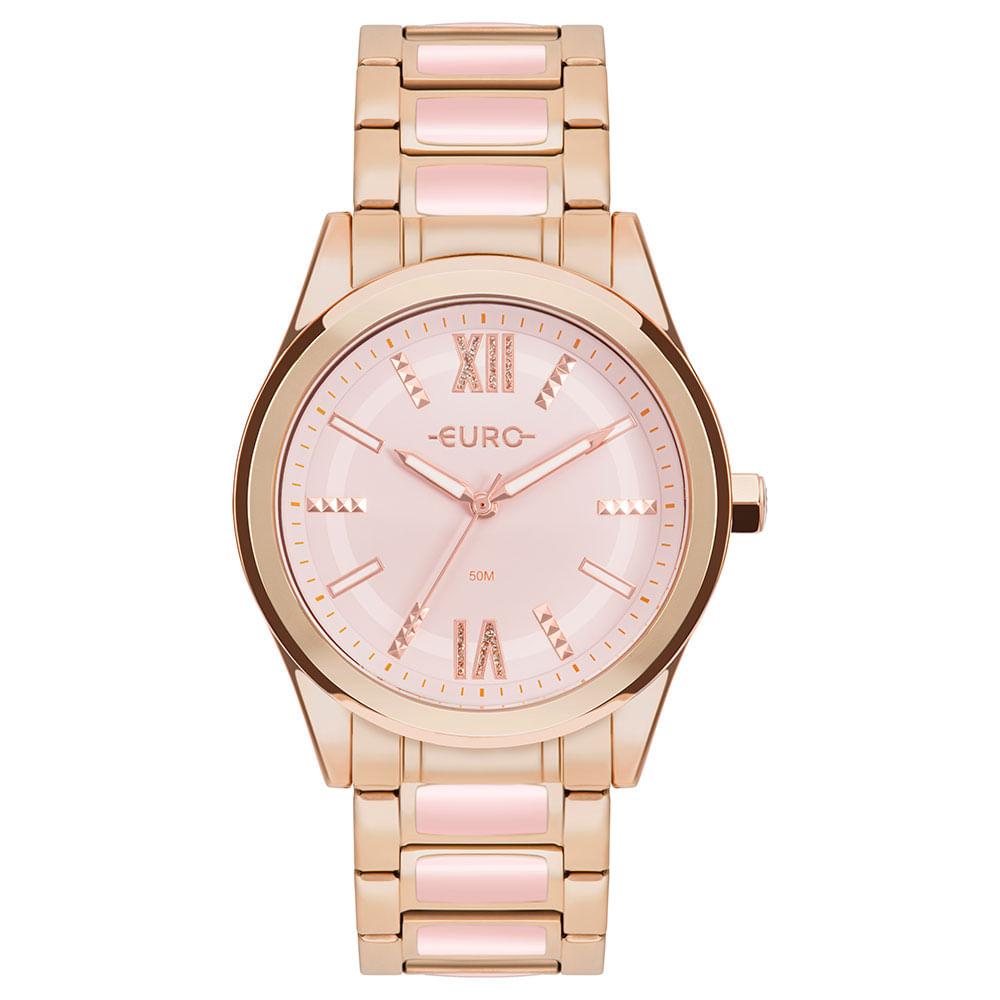 Relógio Feminino Euro Preto EUVD78AB/4P