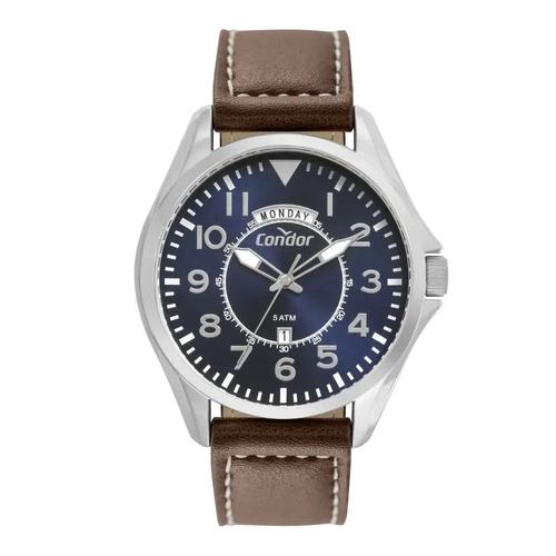 Relógio Masculino Condor Couro Marrom COVJ45AB/2A