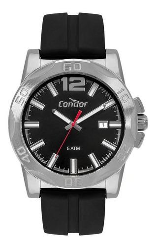 Relógio Masculino Condor Silicone Preto CO2415BN/2P
