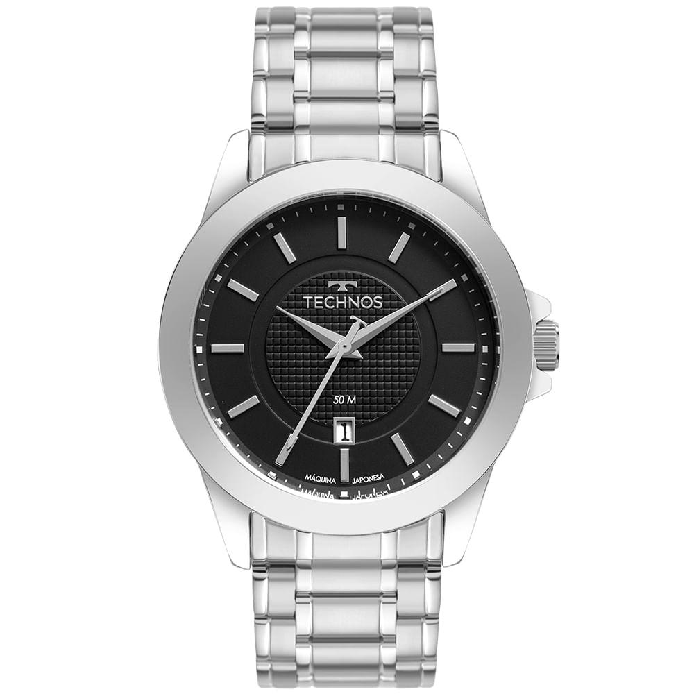 Relógio Masculino Technos Steel Prata 2115MXG/1P