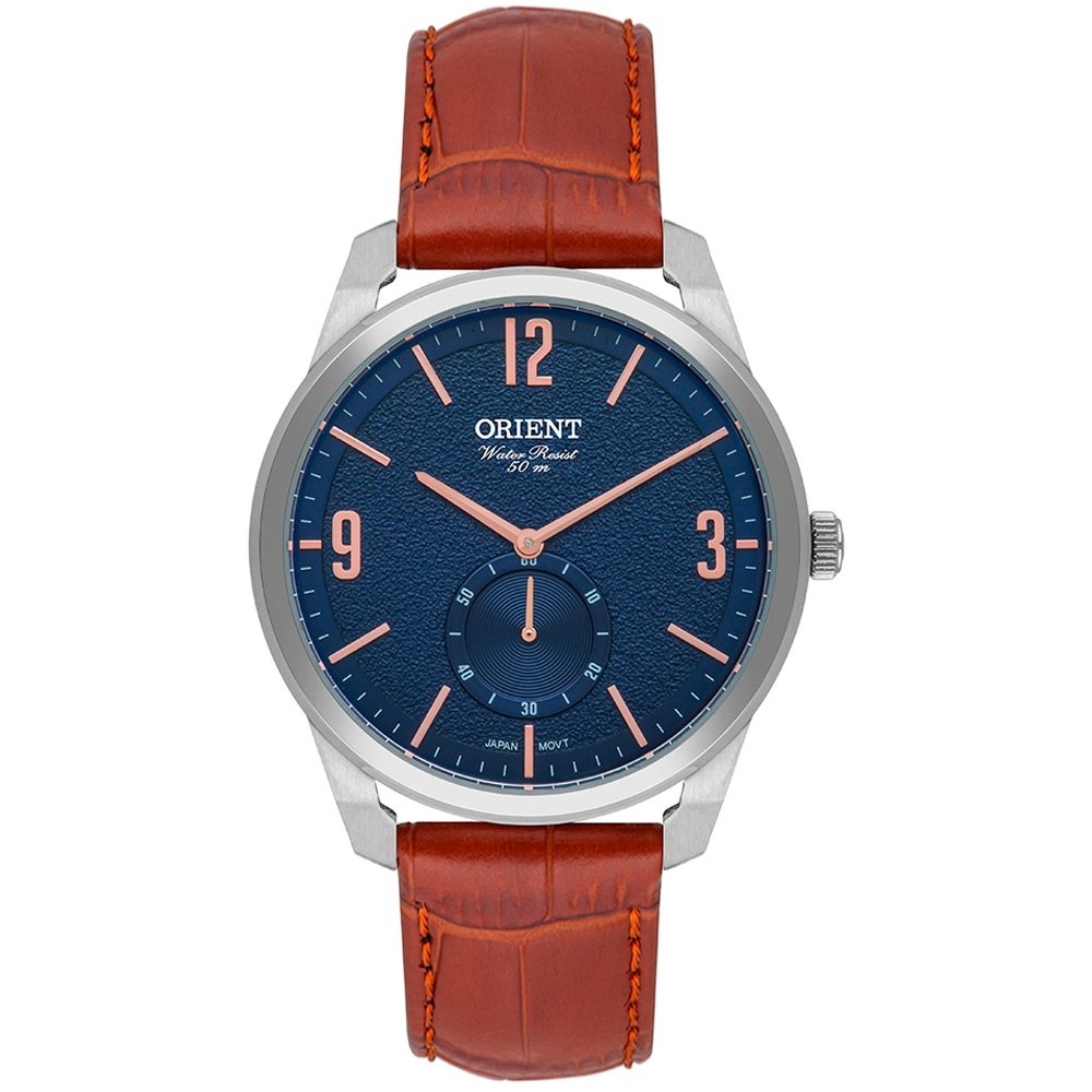 Relógio Orient Masculino Couro Marrom MBSC0004D2MX