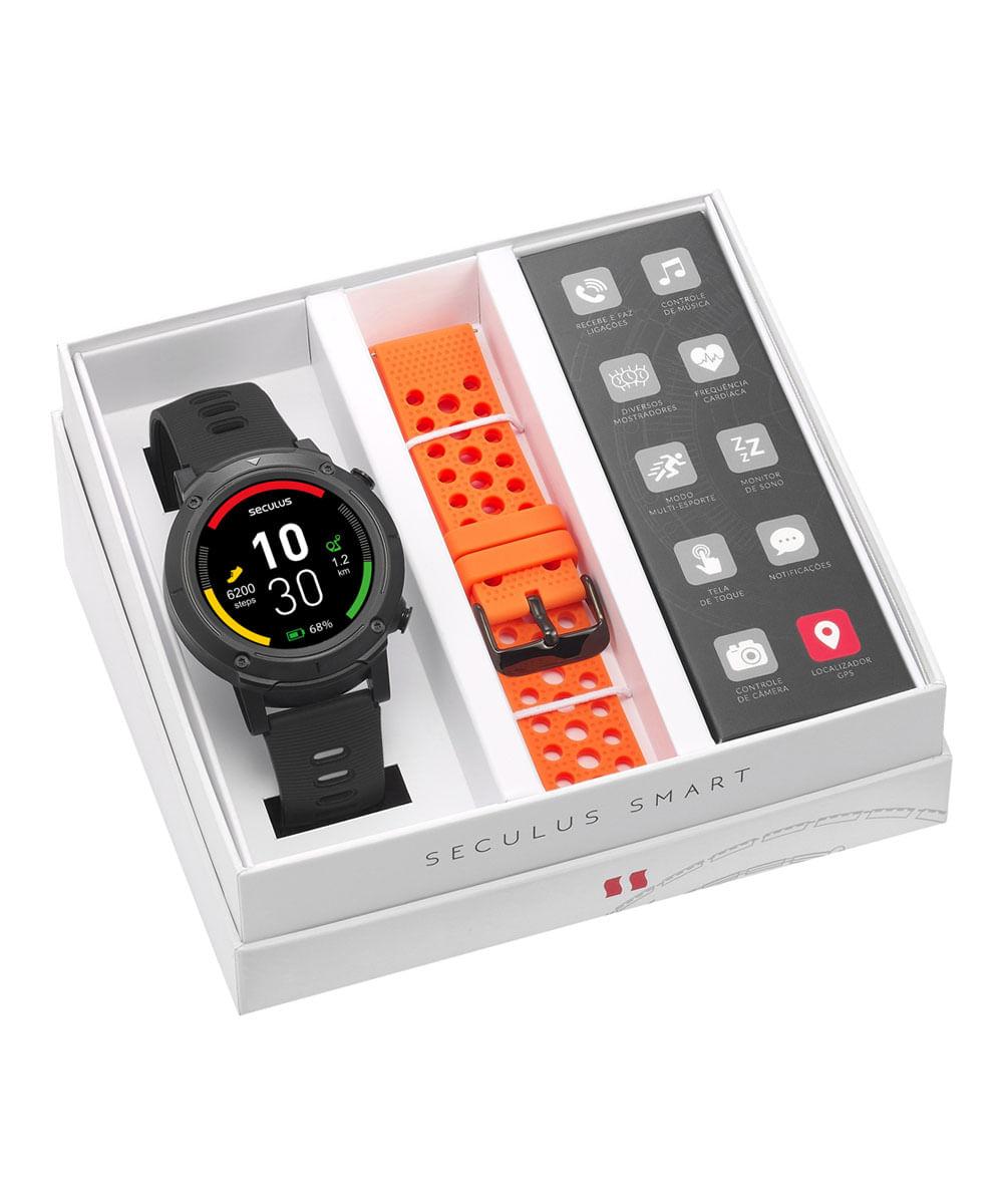 Relógio Seculus Smartwatch Duas Pulseiras 79004G0SVNV1
