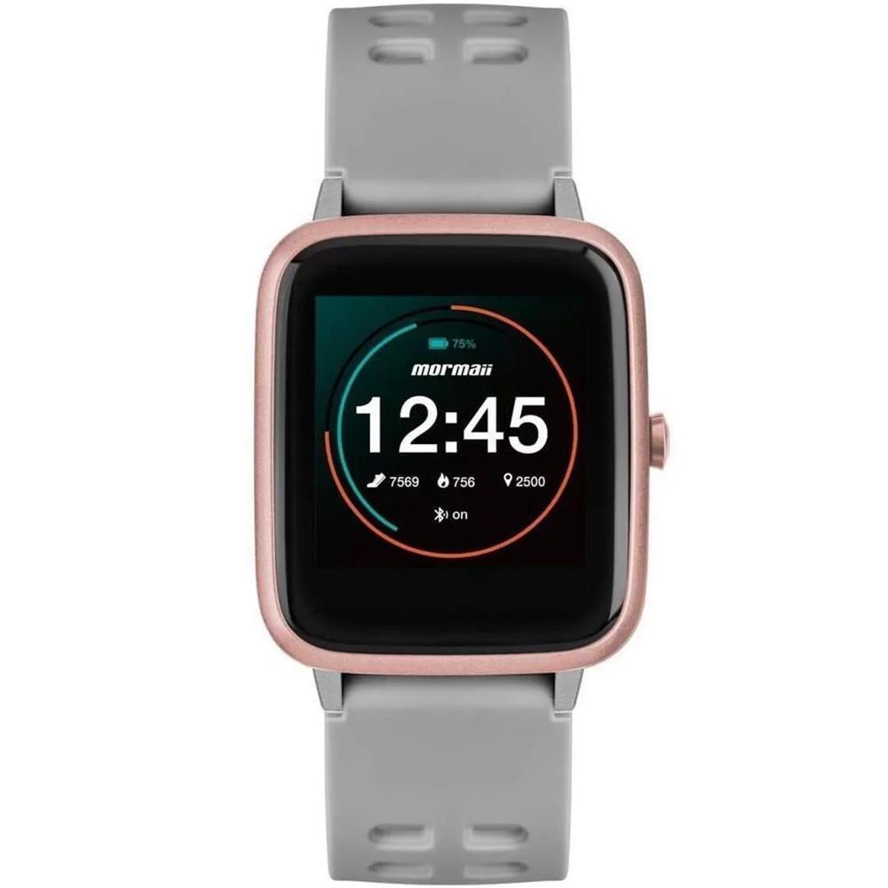 Relógio Smartwatch Mormaii Life Cinza MOLIFEAC/8K