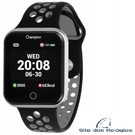 Relógio Unissex Champion Smartwhatch Preto c/ Cinza CH50006C