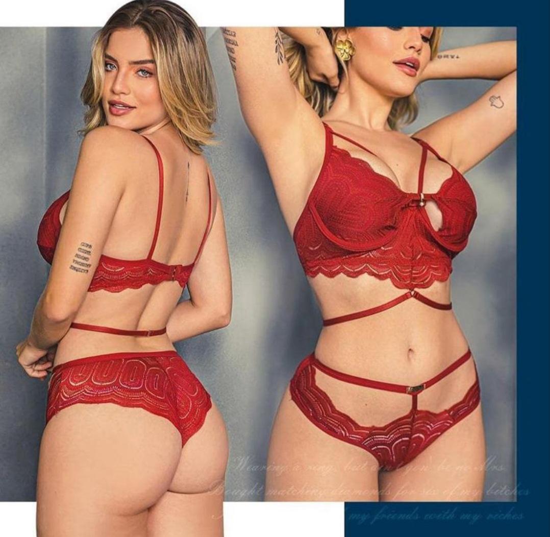 Conjunto Lingerie Sexy Chic Estilosa/ Conjunto de Lingerie Renda Sexy