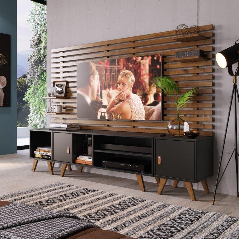 Painel para TV até 32 Polegadas 1 Prateleira Skin Artemobili Garapa