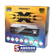 Receptor Freesky TRIPLO X HD ACM 3 Tunner Tunner Tv Digital Terrestre
