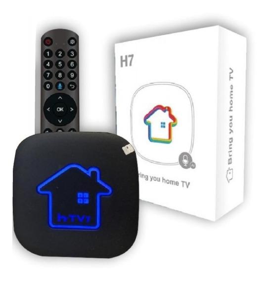 Htv H7 4K Lançamento 2020- Box sem antenas Tv Smart