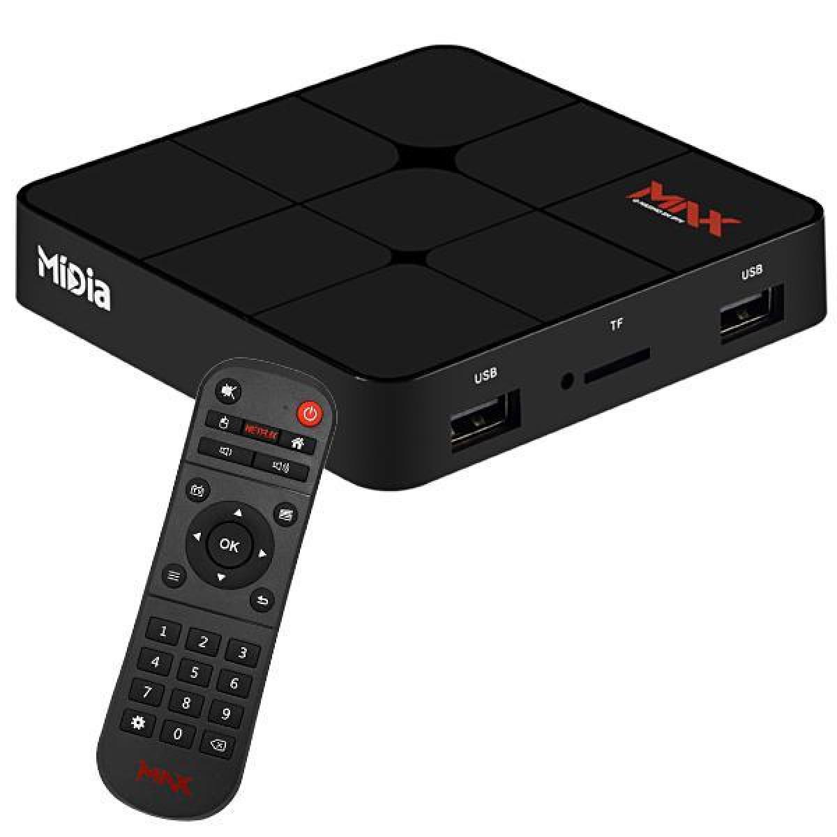Midia Max com Bluetooth - 4K - APLICATIVOS - IPTV - VOD
