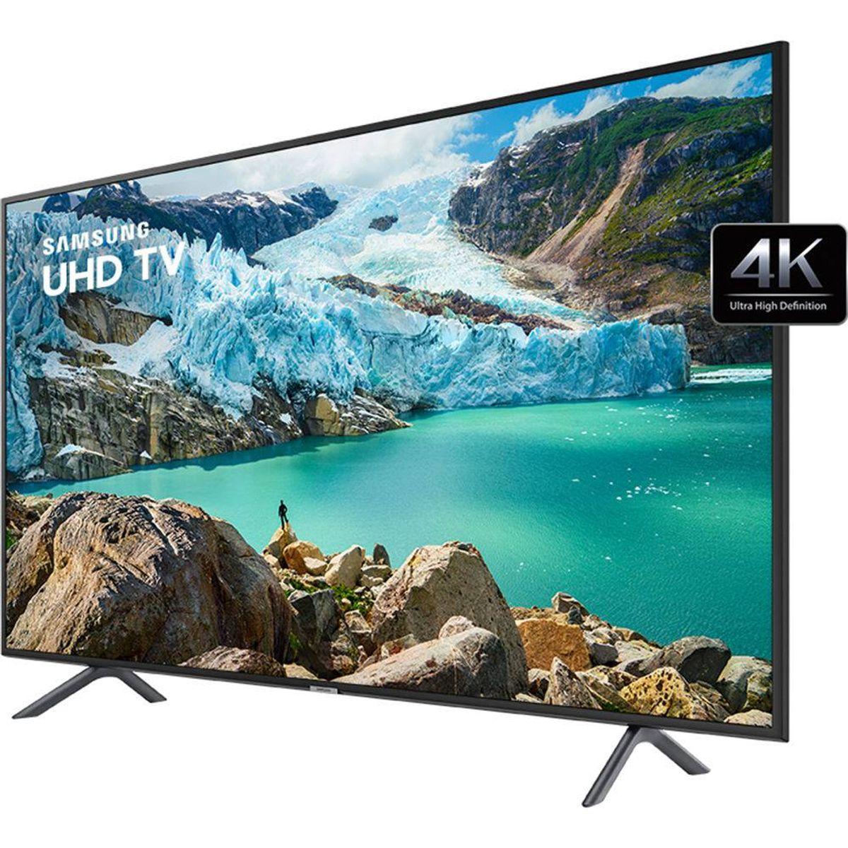 Smart TV LED 65'' Samsung 65RU7100 Ultra HD 4K com Conversor Digital 3 HDMI 2 USB Wi-Fi Visual Livre de Cabos Controle Remoto Único e Bluetooth