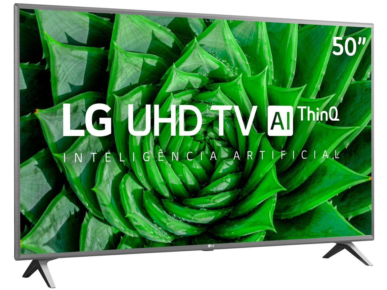 "Smart TV UHD 4K LED 50"" LG 50UN8000PSD Wi-Fi - Bluetooth HDR Inteligência Artificial 4 HDMI 2 USB"
