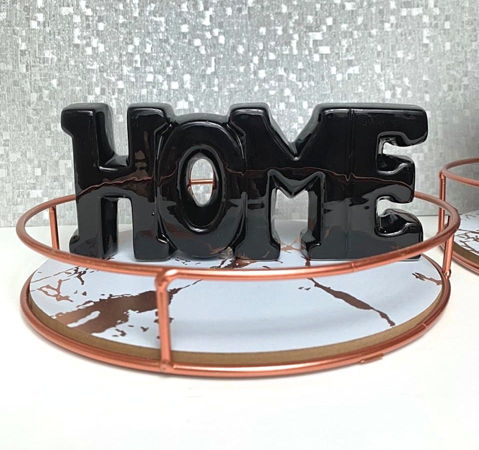 Enfeite Ambiente Decoração Letreiro Home Cerâmica Casa