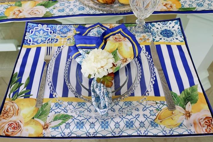 Kit de Guardanapos Limão Siciliano