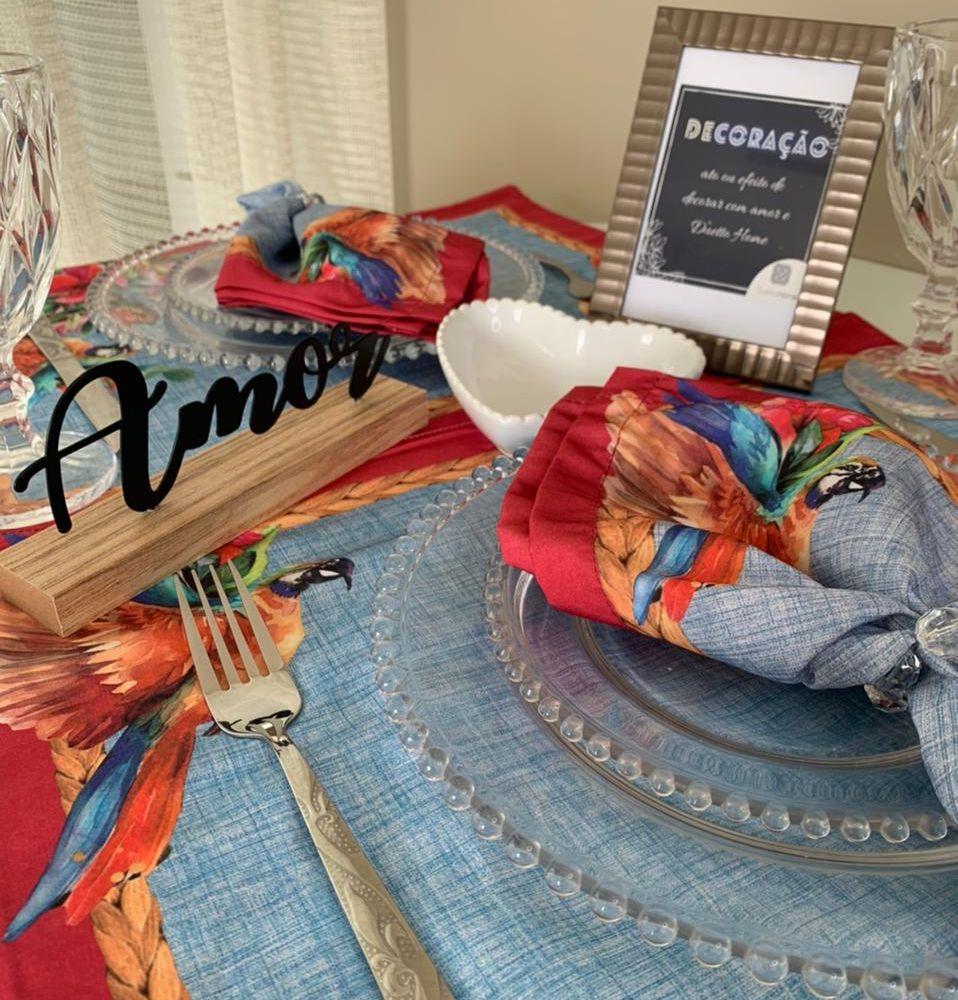 Kit Dia dos Namorados - Jogo Americano Arara