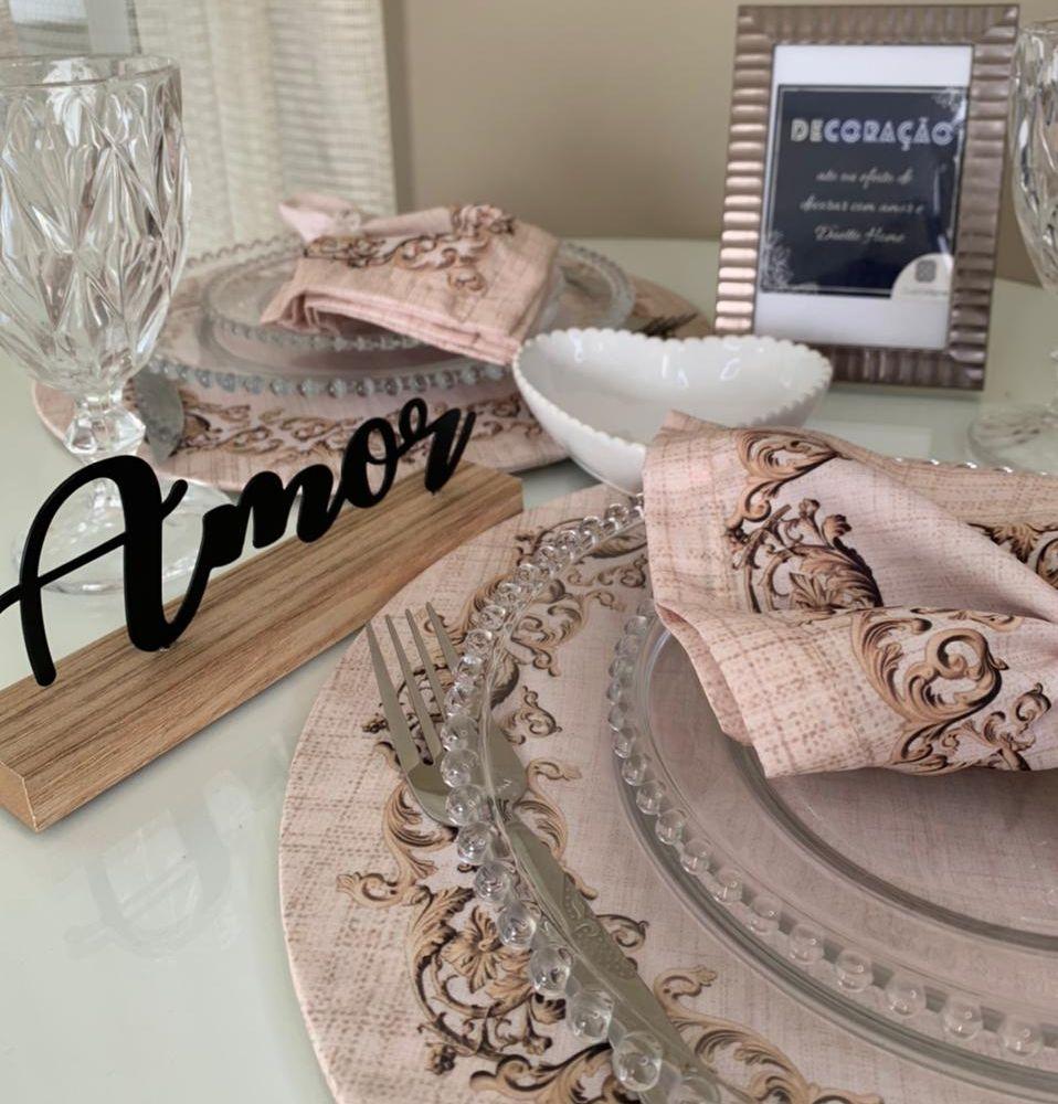 Kit Dia dos Namorados - Sousplat Arabesco