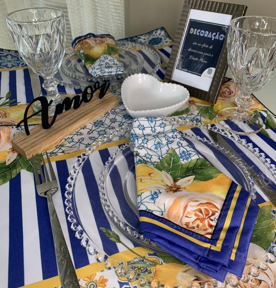Kit Dia dos Namorados - Sousplat Limão Siciliano