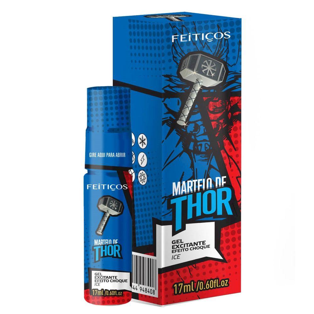 Gel Excitante Masculino Martelo de Thor - Vibra e Refresca - 17ml